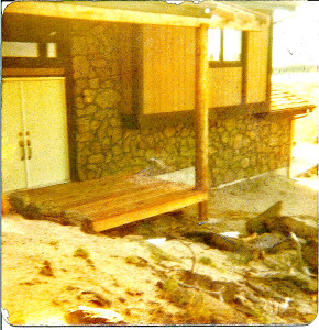 Original front door before deck.