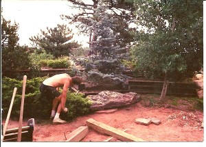 Tearing Down Patio - Beginning of the Stream