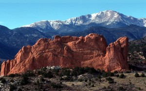 Pikes Peak stands tall over Garden of the Gods in Colorado Springs, Colo., in this November 1998 photo. Photo by Christian Murdock/The Gazette